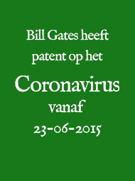 Coronavirus: patent is o.a. van Bill Gates en de WHO